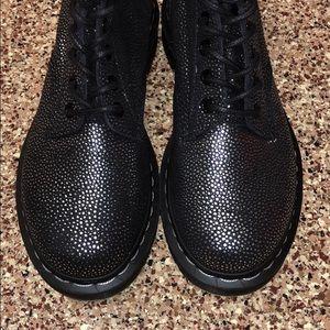 Dr. Martens Shoes - Dr. Marten Airwair Pascal Black Silver Boots 6US
